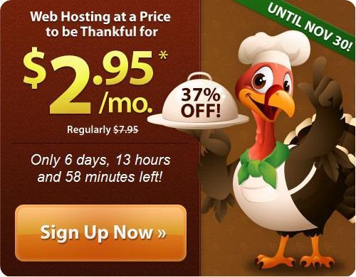 iPage美国主机感恩节2.95美元促销
